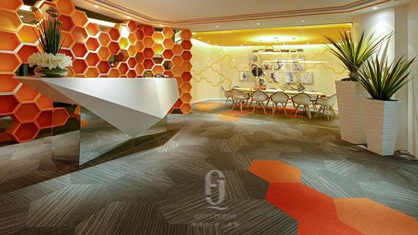 大都汇广告设计办公地毯案例